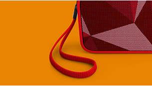Spřibaleným jemně pleteným popruhem jej můžete nosit všude ssebou