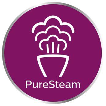 Technologia PureSteam zapewnia strumień pary o stałej, dużej mocy przez cały czas