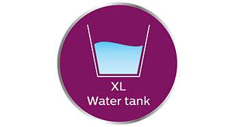 Extra stor vattentank för längre strykning