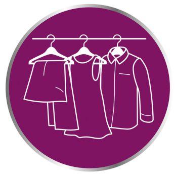 Bezpieczeństwo dla wszystkich delikatnych tkanin, takich jak jedwab