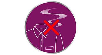 O vapor potente elimina odores e mata 99,9% das bactérias