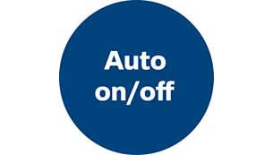 Pornire/oprire automată pentru a asigura o putere de aspirare numai la nevoie
