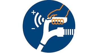 Встроенные элементы управления мощностью расположены на рукоятке
