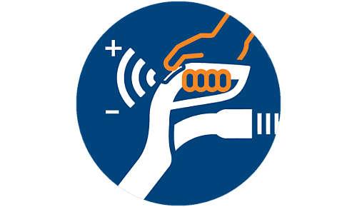 Styr effektinställningarna med ErgoGrip-fjärrkontrollen