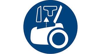Inbyggda tillbehör för snabb och grundlig rengöring