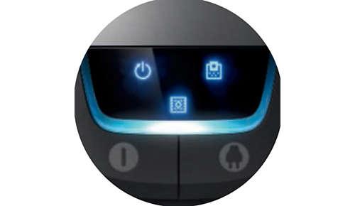 Digital display som ger dig relevant information om din städning