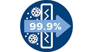Filtrul anti-alergeni reţine peste 99,9 % dintre particule, certificat ECARF