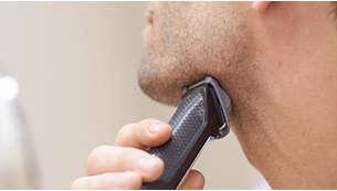 Peine-guía para recorte de barbas incipientes