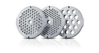 3 гигиеничные решетки для фарша из нержавеющей стали (3мм, 5мм и 8мм)