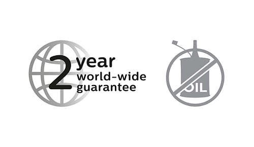 2-year guarantee, no oil needed