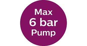 Μέγιστη πίεση αντλίας 6 bar