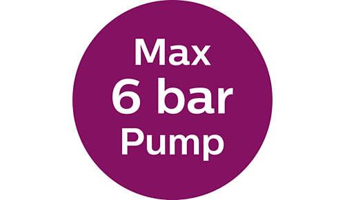 Pompdruk max. 6 bar