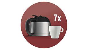 Thermo-Kanne aus Edelstahl für 7Tassen Filterkaffee