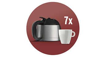 Roestvrijstalen thermische kan voor 7 kopjes filterkoffie