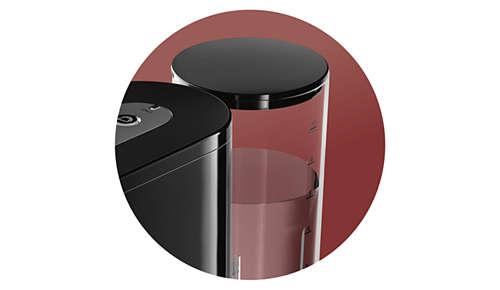Réservoir d'eau de 1l pour préparer jusqu'à 7tasses en une seule fois