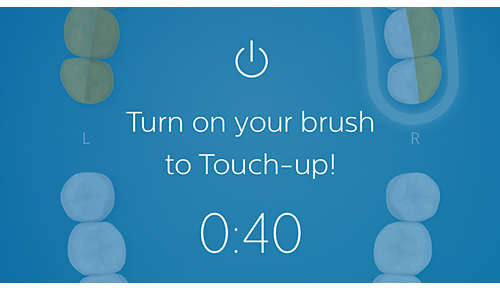 A second chance to clean the spots you miss with Touch Up