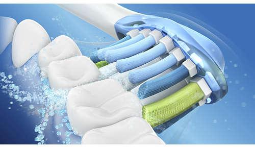 Acción de limpieza dinámica para mejorar la salud dental