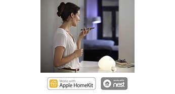 Compatible avec la technologieAppleHomeKit et le système Nest