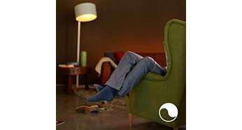 Entspannen Sie sich mit warmweißem Licht