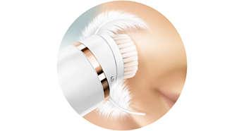 Stap 1: zachte reiniging van de huid