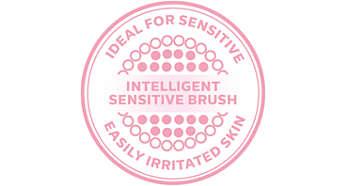 Tête de brosse intelligente pour les peaux sensibles avec étiquette NFC