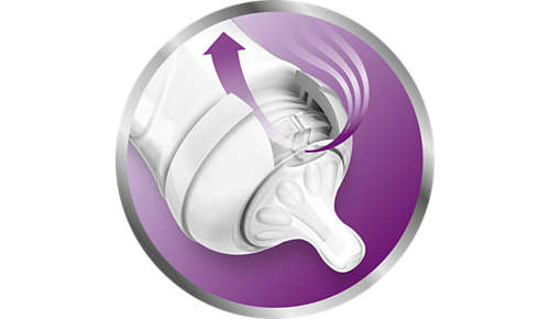 Unique anti-colic valve technology