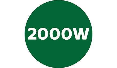 Leistungsstark, 2000W Leistung und 45000Umdrehungen pro Minute