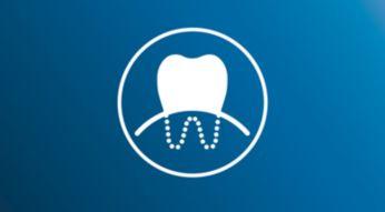 Klinické studie dokázaly stejnou efektivitu pro dásně jako u zubní niti**