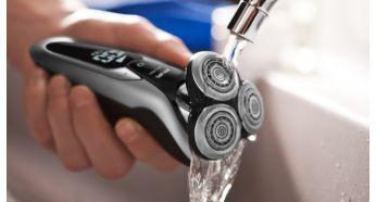 Бритву можно промыть под водопроводной водой