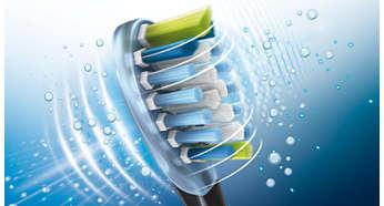 Suit les contours des dents et des gencives pour un nettoyage plus profond