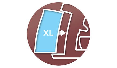 Depósito de agua extraíble de 1,2 litros para 19 tazas con solo rellenar una vez
