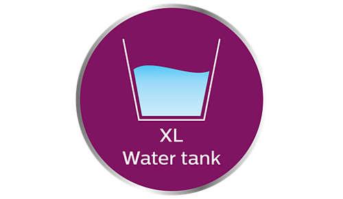 XL-Wassertank für sorgenfreies Dampfbügeln ohne Nachfüllen