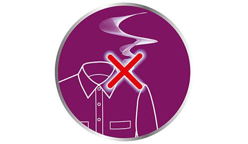 Starke Dampfleistung entfernt Gerüche und tötet 99,9% der Bakterien ab