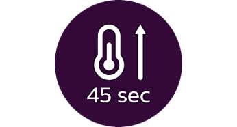 Szybkie nagrzewanie — 45sek.
