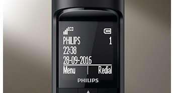 """Wit-op-zwart display van 4,6 cm (1,8"""") met hoog contrast"""