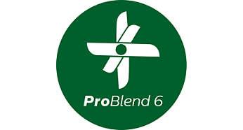 Tecnologia ProBlend 6 para mistura mais fina