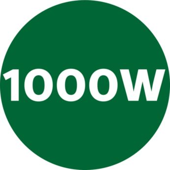 Vermogen van 1000 W