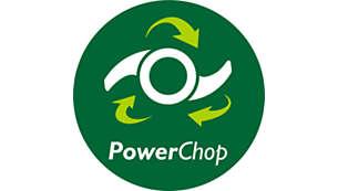 Lama in acciaio inox con tecnologia PowerChop