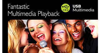Lisez les formats HEVC, H. 264, AAC, MP3, JPEG et plus encore, sur USB