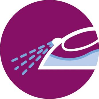 Integrated water spray for making ironing easier