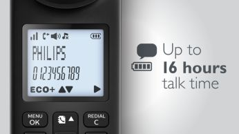 Talk up to 16 hours talk time on a single charge