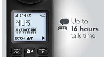 Jusqu'à 16h d'autonomie en conversation par charge
