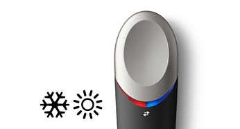表面採用凹面設計,讓熱敷和冷敷療程更舒適宜人
