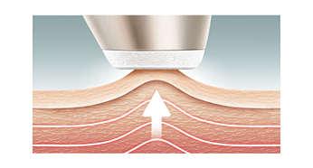 Stimulation des tissus profonds: peau d'aspect plus ferme