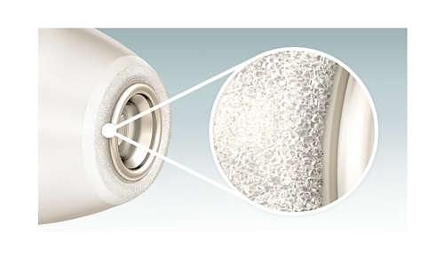 150.000 Kristallpartikel entfernen sanft abgestorbene Hautschüppchen