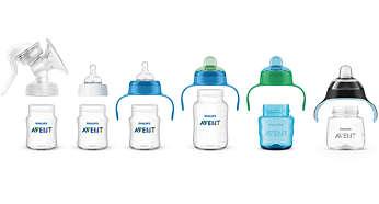 Rango compatible desde la lactancia materna natural hasta el uso de vaso