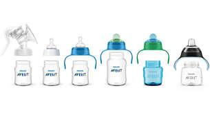 Rangkaian produk kompatibel dari menyusui hingga gelas