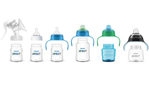Gamma compatibile per il passaggio dall'allattamento al seno alle tazze