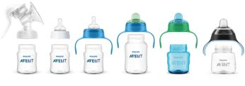 Изделия совместимы между собой, что позволяет легко перейти от грудного вскармливания к самостоятельному питью из чашки