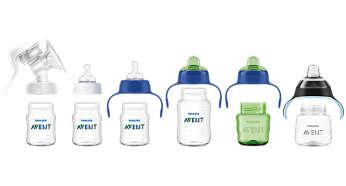 Rango compatible desde la lactancia materna hasta el uso del vaso